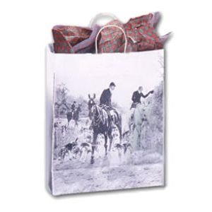 The Hunt, Medium Western Patterned Paper Shopping Bags