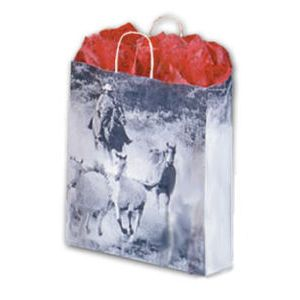 Roundup, Medium Western Patterned Paper Shopping Bags