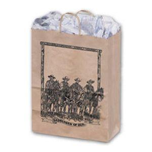 Saddlemen, Large Western Patterned Paper Shopping Bags