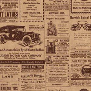 Masculine & Sports Gift Wrap, Newspaper Print, Lenox Lined