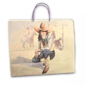 Western Trails, Medium Western Patterned Paper Shopping Bags
