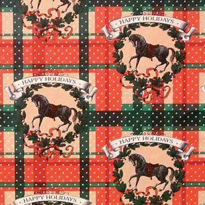 Christmas Western Gift Wrap, Happy Holidays