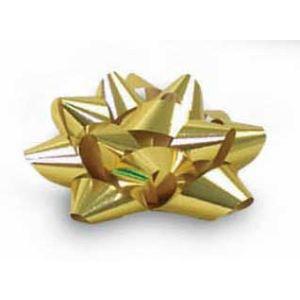 "3/4"" Gold, Glitter Star Bows"
