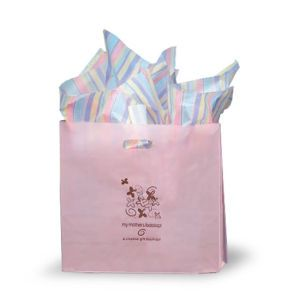 Light Pink, Medium Frosted SOS Gift Bags