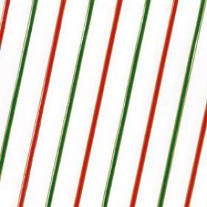 Diagonal Stripes Red/Green/Gold, Printed Polypropylene Rolls