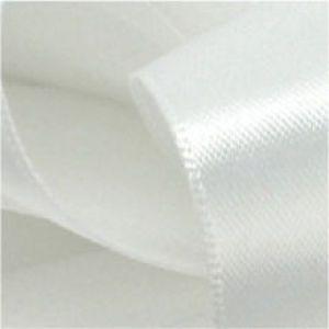 White, Single Faced Satin Ribbon