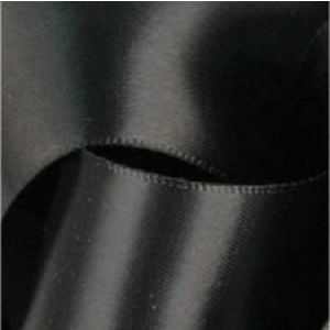 Black, Single Faced Satin Ribbon