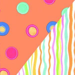 Geometrics Gift Wrap, Dots/Stripes 2 sided