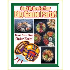 """Window Poster, """"Football Party"""", 28"""" x 36"""""""