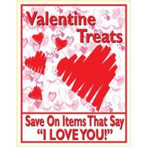 "Window Poster, ""Valentine Treats"", 28"" x 36"""