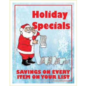 """Window Poster, """"Holiday Specials"""", 28"""" x 36"""""""
