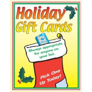 """Window Poster, """"Gift Cards"""", 28"""" x 36"""""""