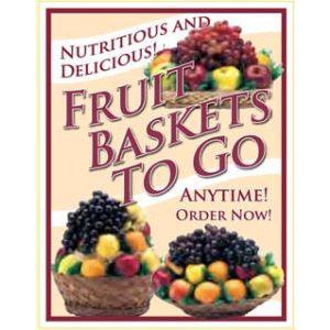 "Window Poster, ""Fruit Baskets"", 28"" x 36"""