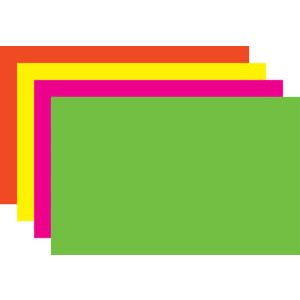 """Assorted Fluorescent Sign Cards, 7"""" x 11"""""""