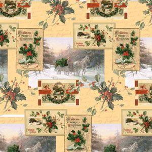 Christmas Western Gift Wrap, Christmas Wishes