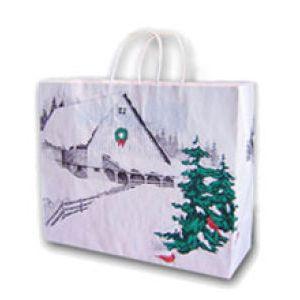 Winter Barn, Medium Western Christmas Bags