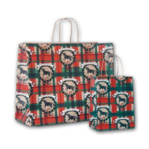 Happy Holidays, Medium Western Christmas Bags