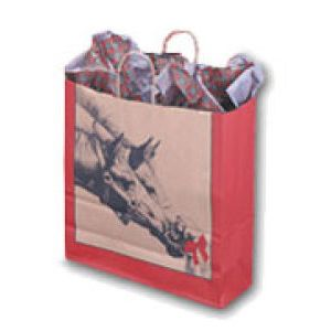 Horse & Puppy, Large Western Christmas Bags
