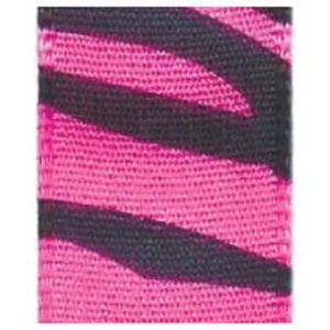 """5/8"""" Hot Pink, Jungle Print Polyester Ribbon"""