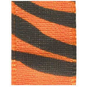 "5/8"" Orange, Jungle Print Polyester Ribbon"