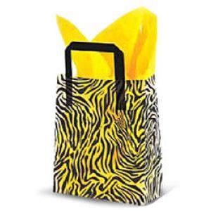 Zebra, Medium Shoppers with Tri-Fold Handles