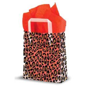 Leopard, Medium Shoppers with Tri-Fold Handles