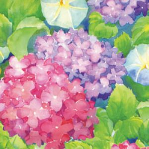 Floral & Tapestries Gift Wrap, Hydrangeas, Florals, Process