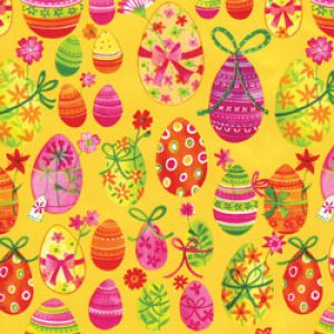 Special Occasions Gift Wrap, Fancy Easter Eggs