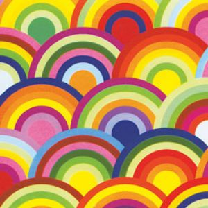 Geometrics Gift Wrap, Rainbow Circles