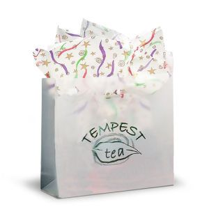 Clear, Large Frosted SOS Gift Bags