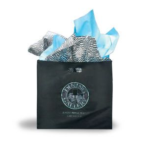 Black, Large Frosted SOS Gift Bags