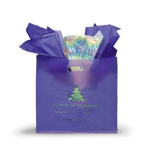 Grape, Medium Frosted SOS Gift Bags