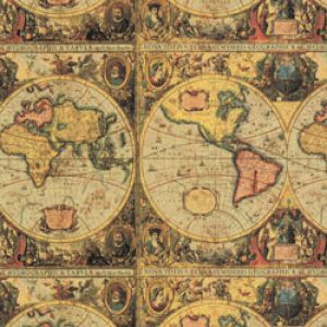 Animal Print Gift Wrap, Old World Map Victorian Process