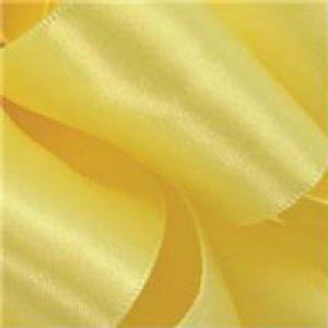Lemon, Single Faced Satin Ribbon