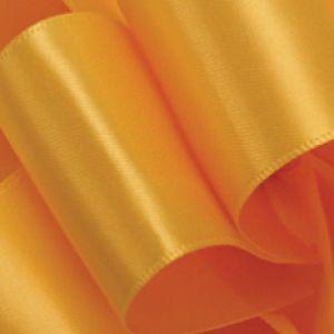 Yellow Gold, Single Faced Satin Ribbon