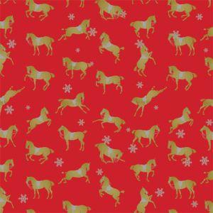 Christmas Western Gift Wrap, Holiday Spirit