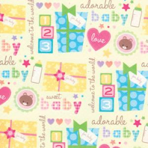 Juvenile Gift Wrap, Sweet Baby & Presents