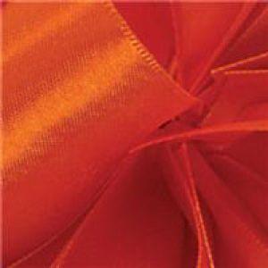Torrid Orange, Single Faced Satin Ribbon