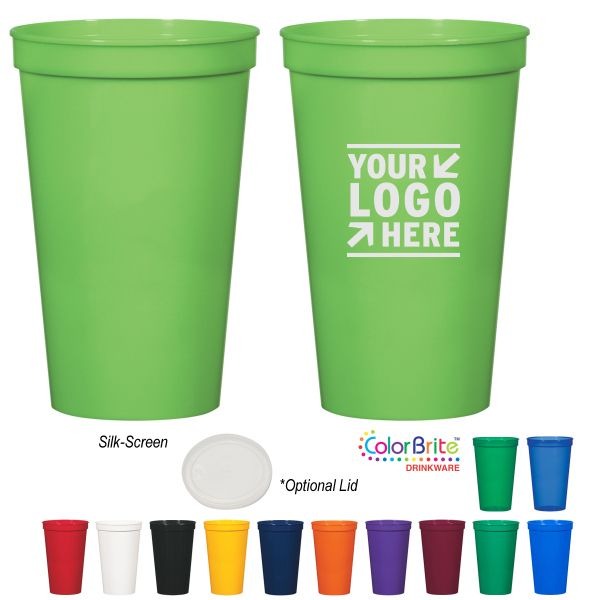 custom plastic stadium cups
