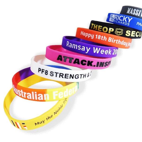 silicone customizable wristbands